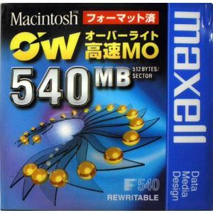 maxell 3.5インチ オーバーライト対応高速 MOディスク Macフォーマット済 540MB 1枚 RO-M540.MAC.B1P flashstore