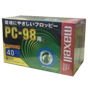 【生産終了品☆送料無料】マクセル 3.5インチ 2HD フロッピーディスク PC98用MS-DOSフォーマット(98フォーマット)済 40枚パック MFHD8.C40K【メール便不可】|flashstore