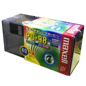 【生産終了品・送料無料】 マクセル 3.5インチ 2HD フロッピーディスク PC98用MS-DOSフォーマット済 カラーミックス 40枚 MFHD8MIX.C40P【メール便不可】|flashstore