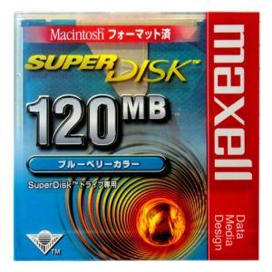 【激レア!】 SuperDisk(スーパーディスク)120MB  カラーシェルタイプ ★ブルーベリーカラー★  SD120MACBL.B1P|flashstore