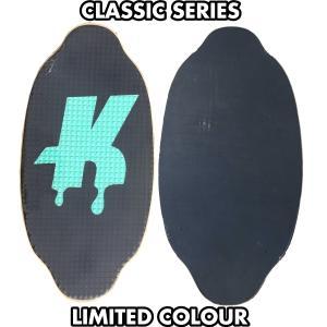 フラットスキム ランド Kayotics カヨティックス Classic Series Dripped ブラックxクリームグリーン Size:107cm×53cm flatskimjapan