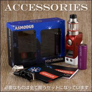 訳あり大特価!! ASMODUS Mini Minikin USA 50W Complete Kit 電子タバコ vape スターターセット アスモダス ミニミニキン ミニキン テクニカル BOX MOD flavor-kitchen 11