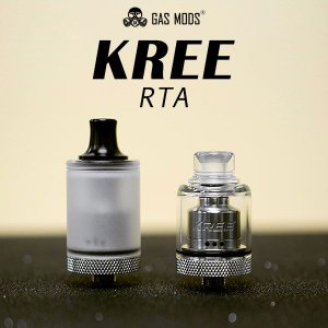 GASMODS KREE RTA ガスモッズ クリー アトマイザー vape rta 直径 22mm 電子タバコ タンク シングル クリー rta rba|flavor-kitchen