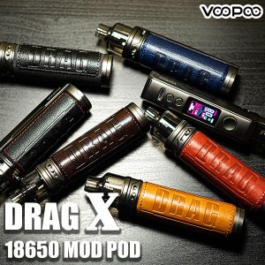 VOOPOO DRAG X 18650 Mod Pod ブープー ドラッグ エックス  vape pod型 ポッド ビルド リビルド RBA drag vape pod|flavor-kitchen