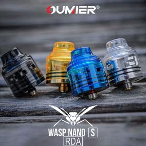 Oumier オーマイヤー Wasp Nano S RDA ワスプナノ エス vape アトマイザー RDA 直径 25mm 810 デュアル ビルド デッキ クリア BF スコンカー|flavor-kitchen