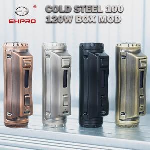 EHPRO Cold Steel 100 120W Box MOD イーエイチプロ コールド スティール 電子タバコ vape coldsteel シングル テクニカルmod|flavor-kitchen