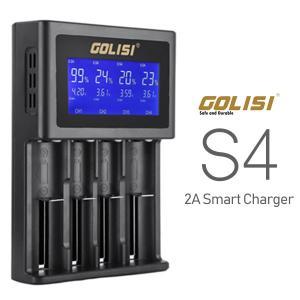 送料無料 Golisi S4 ゴリシ vape セルバッテリー 充電器 チャージャー 4本同時充電可...