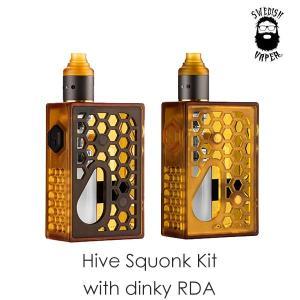 Swedish Vaper Hive Squonk MOD with Dinky RDA スウェディッシュ ベイパー ハイブ ディンキー vape スコンカー メカニカル box メカスコ|flavor-kitchen