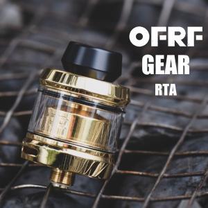 OFRF Gear RTA 電子タバコ vape オフ ギア RTA RBA タンク 直径24ml アトマイザー シングルビルド  爆煙 アトマイザースタンド おまけつき ☆ OFRF Gear RTA|flavor-kitchen