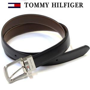 TOMMY HILFIGER(トミーヒルフィガー) ベルト メンズ 人気 メンズベルト 革 レザー リバーシブル BLACK/BROWN 誕生日 プレゼント|flavor