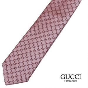 GUCCI ネクタイ ブランドネクタイ GUCCI グッチネクタイ ビジネスネクタイ ピンク|flavor