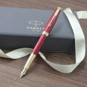 PARKER(パーカー)ソネットレッド GT 万年筆 18金ペン先 誕生日 プレゼント|flavor