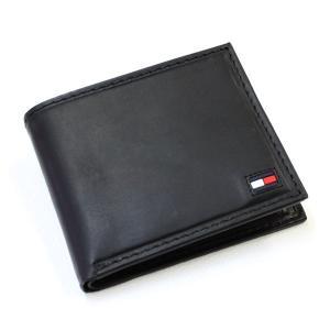 トミーヒルフィガー 財布 メンズ 二つ折り財布 牛革 ブランド財布 人気 ブラック|flavor