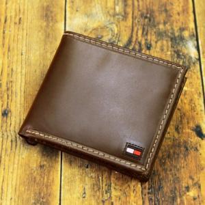 トミーヒルフィガー 財布 メンズ 二つ折り財布 牛革 ブランド財布 人気 ブラウン|flavor