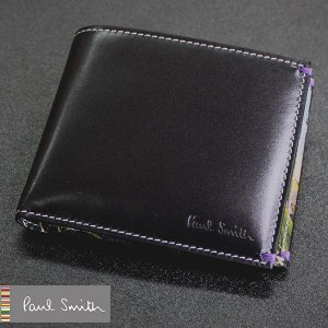 ポールスミス Paul Smith 財布 メンズ 二つ折り ブラック ポール・スミス|flavor