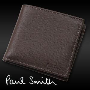 ポールスミス メンズ財布 二つ折り  ブラウン ポールスミス財布 本革 プレゼント|flavor