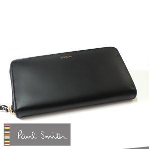 ポールスミス Paul Smith 財布 メンズ ラウンド 長財布  ポール・スミス 4778-W761-black|flavor
