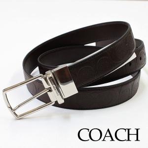 COACH (コーチ) ビジネスベルト メンズ 人気 メンズベルト リバーシブル 革 レザー 誕生日 プレゼント|flavor