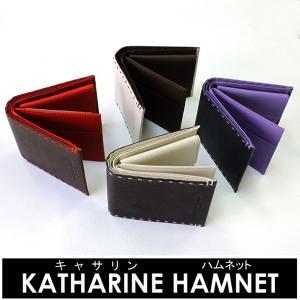 優勝セール 財布 メンズ キャサリン・ハムネット  二つ折り メンズ財布 春夏 財布 K51906 flavor