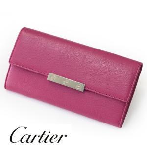 Cartier カルティエ 財布 LOVE ピンク レディー...