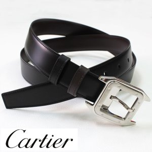 Cartier ビジネスベルト カルティエ メンズ 人気 メンズベルトブラック/ダークブラウン リバーシブルタイプ 父の日  誕生日 プレゼント|flavor