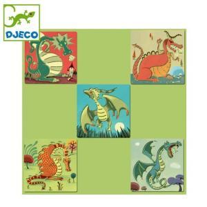 正規品 DJECO(ジェコ) ステンシル ドラゴン flclover