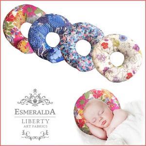 正規品 リバティプリントドーナツ枕 ESMERALDA(エスメラルダ) ベビー枕 べびーまくら ドー...