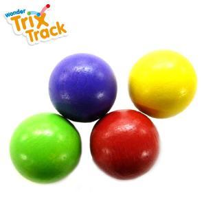 正規品 木のおもちゃ ボール転がし wonderworld(ワンダーワールド) TrixTrack ボール4個セット|flclover