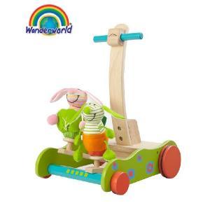 正規品 木のおもちゃ wonderworld(ワンダーワールド) ホッピング・バニーウォーカー|flclover
