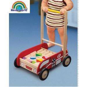正規品 木のおもちゃ wonderworld(ワンダーワールド) ファイアーエンジン・ウォーカー|flclover