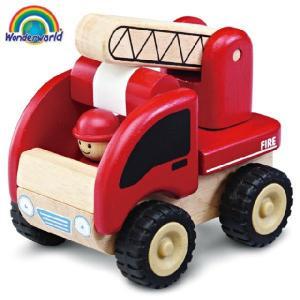 正規品 木のおもちゃ wonderworld(ワンダーワールド) ミニ・ファイアーエンジン|flclover