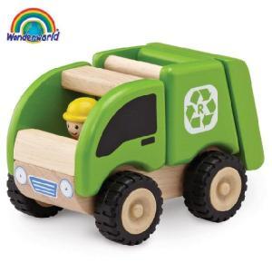 正規品 木のおもちゃ wonderworld(ワンダーワールド) ミニ・リサイクリングトラック|flclover