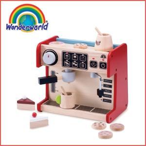 正規品 木のおもちゃ wonderworld(ワンダーワールド) オールインワン・コーヒーショップ おままごと|flclover