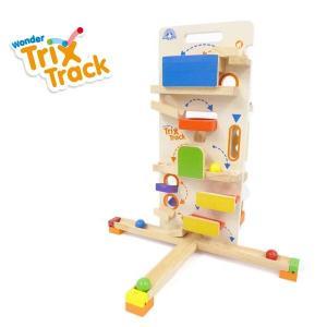 正規品 木のおもちゃ ボール転がし wonderworld(ワンダーワールド) TrixTrack タワーラウンチャー|flclover