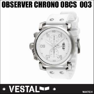 VESTAL ベスタル WATCH 腕時計  USS OBSERVER CHRONO OBCS 003/White PU /Silver - White/【返品種別SALE】|fleaboardshop01