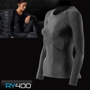 skins RY400 ウイメンズ ロングスリーブ スキンズ レディース・女性用 K48001005D コンプレッション インナー リカバリー|fleaboardshop01