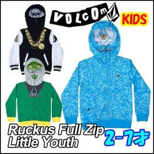 ボルコム パーカー キッズ VOLCOM   ジップ フード  Ruckus Full Zip Little Youth プリント 柄  2-7才向け  Kids ヴォルコム 【返品種別SALE】|fleaboardshop01