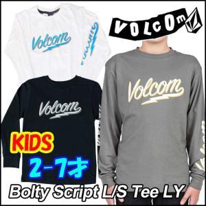 ボルコム Tシャツ 長袖 キッズ VOLCOM  Bolty Script L/S Tee LY   2-7才向け Kids ヴォルコム 【返品種別SALE】|fleaboardshop01