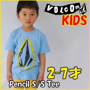 VOLCOM ボルコム キッズ ティ Pencil S/S Tee Little Youth Kids tシャツ 3-7才向け半袖  ヴォルコム /メール便可/【返品種別SALE】|fleaboardshop01