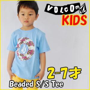 VOLCOM ボルコム キッズ ティ Beaded  S/S Tee Little Youth Kids tシャツ 3-7才向け半袖  ヴォルコム /メール便可/【返品種別SALE】|fleaboardshop01