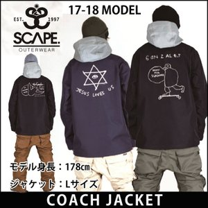 SCAPE 17-18 エスケープ ウエア COACH JACKET コーチジャケット スノー