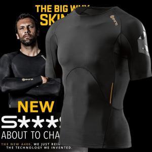 skins a400 メンズ ショートスリーブトップ  スキンズ Newモデル /正規品/ZB9932004(BKOB)ブラック/オブリーク|fleaboardshop01