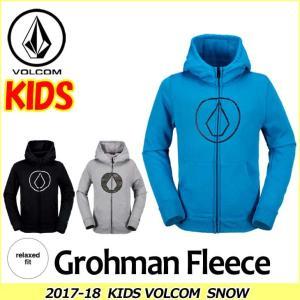 17-18 VOLCOM ボルコム パーカー フリース キッズ Grohman Fleece ジップアップ 【返品種別SALE】|fleaboardshop01