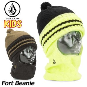 18-19 VOLCOM ボルコム キッズ ビーニー スノーボード 【Fort Beanie 】 L5851902  【返品種別OUTLET】|fleaboardshop01