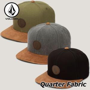 VOLCOM ボルコム キャップ CAP メンズ  Quarter Fabric Hat D5531...