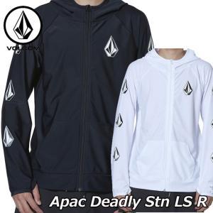 volcom ボルコム メンズ ラッシュガード  【Apac Deadly Stn LS R】長袖  ZIP フード  Japan N03119G1|fleaboardshop01