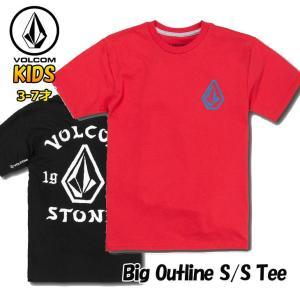 ボルコム キッズ Tシャツ volcom KIDS  Big Outline S/S Tee  半袖 3-7歳 幼児  Little Youth Y3521902|fleaboardshop01