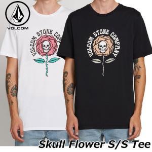 volcom ボルコム tシャツ メンズ  Skull Flower S/S Tee 半袖   A5021901|fleaboardshop01
