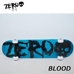 スケートボード コンプリート ゼロ  BLOOD BLUE/BLACK  (7.875x31.375)  純正品 完成品  ship1|fleaboardshop