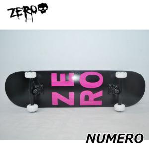 スケートボード コンプリート ゼロ ZERO NYMERO BLACK/PINK  (8x31.625)純正品 完成品  ship1|fleaboardshop